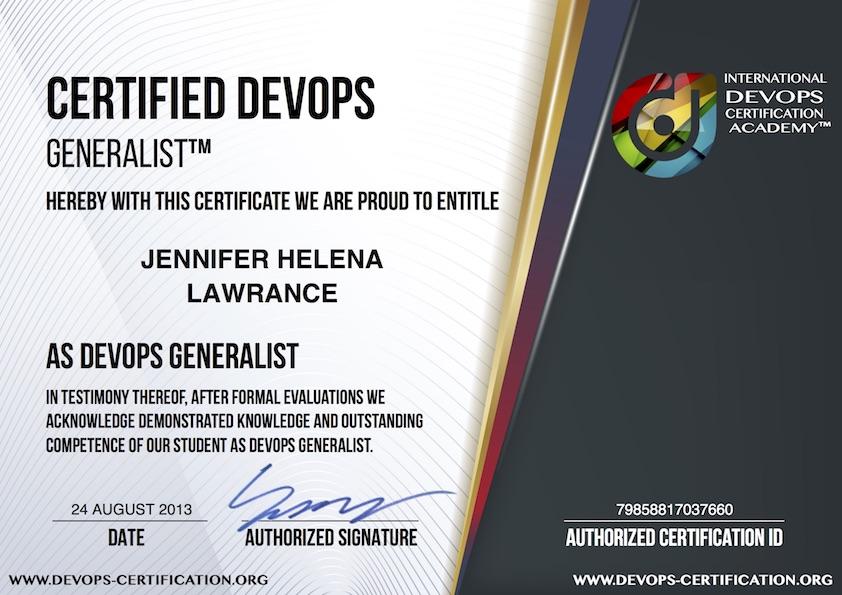 What Is Usd 99 Official Certified Devops Generalist Devops Gen