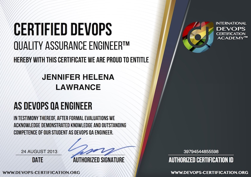What is USD 149 Official Certified DevOps Quality Assurance (Test ...
